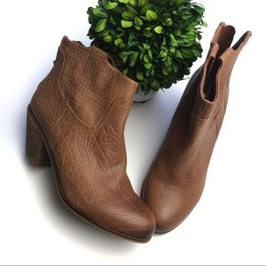 Sam Edelman Lisley Ankle Brown Booties Size 6.5